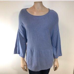 PURE JILL Kimono Sweater Blue Cashmere Blend